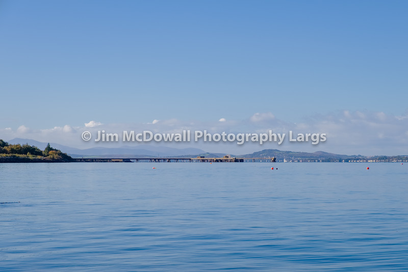 Thew Site of Inverkip Power Station now gone over to Rothesay and the Hills beyond