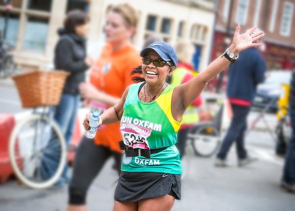 Oxfam at the Oxford Half Marathon 2014