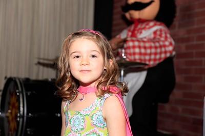 Ella's fifth birthday party Chuck E Cheese 2015