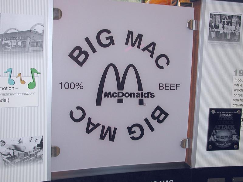 "Eary sign of ""Big Mac"" Times."