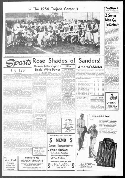 Daily Trojan, Vol. 48, No. 5, September 27, 1956