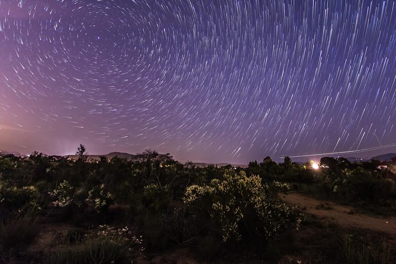 Star trails over Ramona
