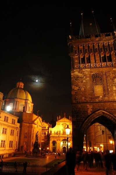 Coming Off the Charles Bridge - Prague, Czech Republic