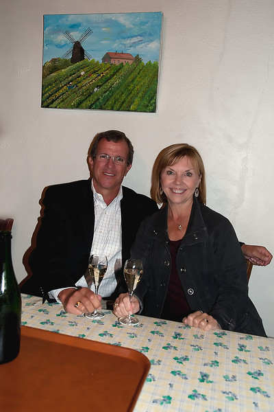 Tasting champagne at a small producer in Verzenay