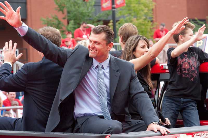 """Trevor Hoffman, Brewers, 2009 MLB All Star Game """"Red Carpet Show"""", St. Louis, MO"""