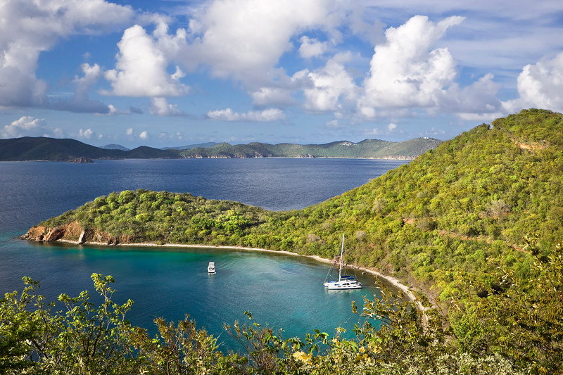 High view point of an island in the British Virgin Islands.