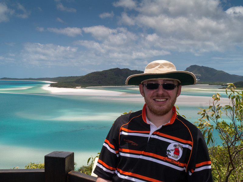 Jonty in front of the view