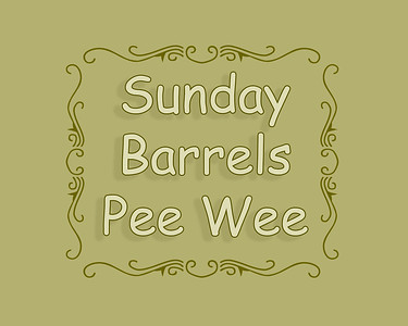 Pee Wee Barrel Racing Sunday