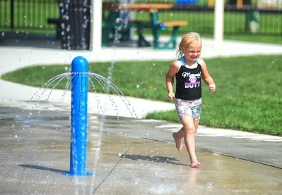 Beating the heat at the West Park splash pad
