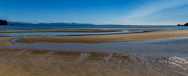 Blick von der «Wainui Bay» in die «Golden Bay»