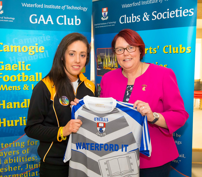 WIT holds event to honour 2016 All Ireland medal winning students. Pictured with the  President of the Camogie Association Catherine Neary is Ann Marie Lennon of the Kilkenny Senior Camogie Team. Picture: Patrick Browne  Waterford Institute of Technology's presence and influence across Gaelic Games at a national level in 2016 has been very noticeable. In total there are 32 past and present WIT students on the respective playing panels that won All Ireland medals in 2016 and a further 4 members on the backroom management teams.   To honour this huge achievement, WIT GAA Club is paying tribute to these 36 past members on securing these prestigious national titles on Monday 3 October, 6.30pm at the WIT Arena.   Along with the players, the prestigious cups, including the All Ireland Senior Hurling Cup- Liam McCarthy, the All Ireland Senior Camogie Cup- O'Duffy, The All Ireland Minor Cup and the All Ireland Under 21 Hurling Cup- James Nowlan, will be on show on the night.