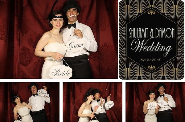 Damon & Shulamit Wedding 6.21.18 - Photo Strips