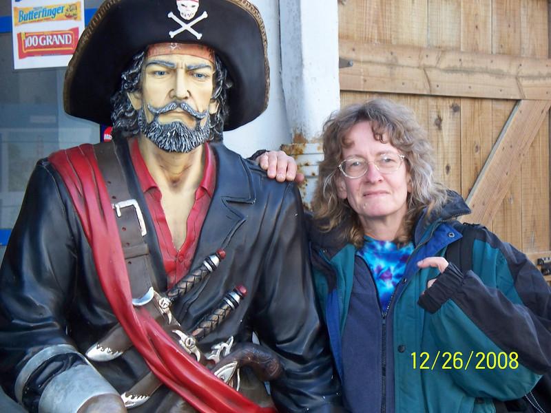 Ellen and a pirate friend