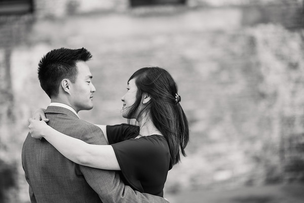 Nicole and Kenny E-Session Black and White