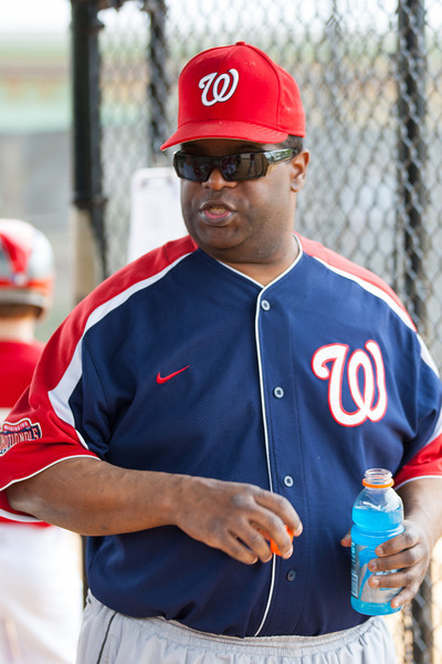 Coach Coop pre-game. The Nationals started out their season with a 4-1 win over the Pirates. 2012 Arlington Little League Baseball, Majors Division. Nationals vs Pirates (14 Apr 2012) (Image taken by Patrick R. Kane on 14 Apr 2012 with Canon EOS-1D Mark III at ISO 200, f2.8, 1/200 sec and 110mm)