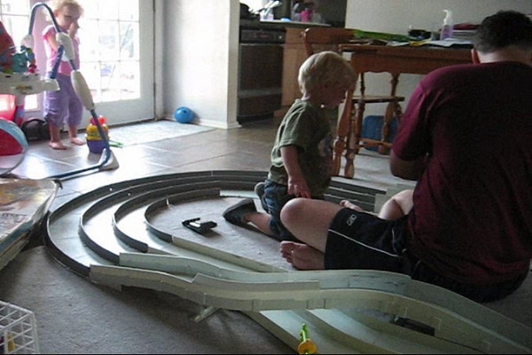 James and Christopher Raicing Cars.wmv
