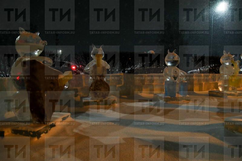 26.12.2018 - Новогоднее украшение организаций Сабинского района (фото Салават Камалетдинов)