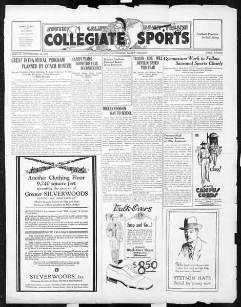 Daily Trojan, Vol. 17, No. 3, September 18, 1925