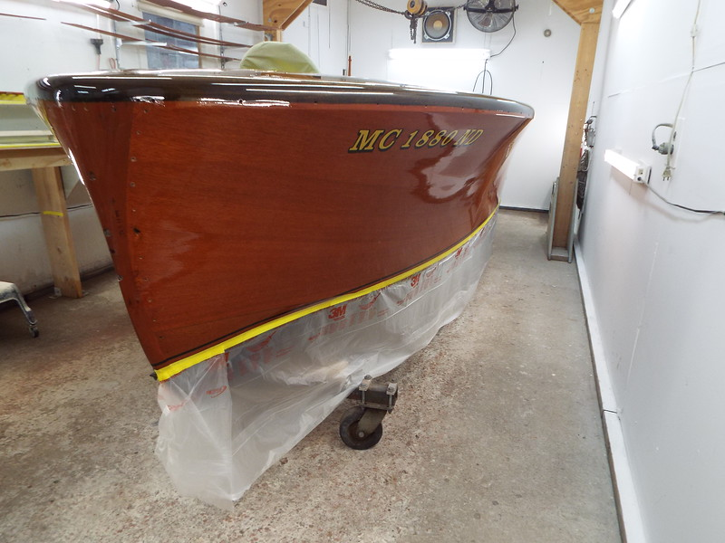 Port side with two coats applied.