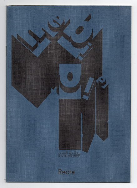 Prospectus of Recta by Nebiolo. 1970s.
