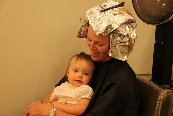 Hailee first haircut 8 11 2010