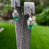 2.00ctw+ Emerald and Diamond Art Deco Conversion Earrings 6