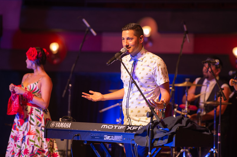 Las Cafeteras, a Chicano band originating from East Los Angeles, performs at the Performing Arts Center to close out Hispanic Heritage Month.
