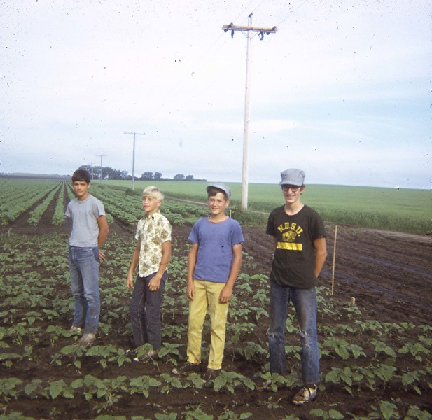 ARS097.  Doug Burgum on right – High School – Hoeing beets -.jpg