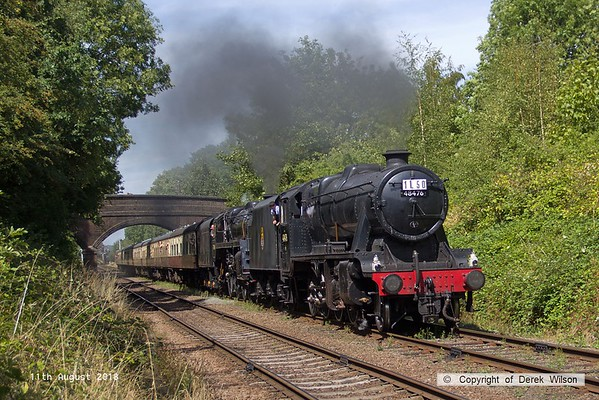 2018, 11th August, Great Central Railway Gala, 50 years since the end of steam on BR