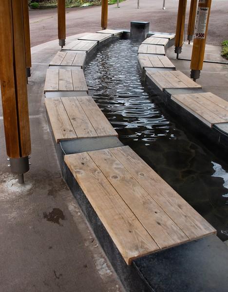 Foot Soaking Pool at Yudanaka Japan