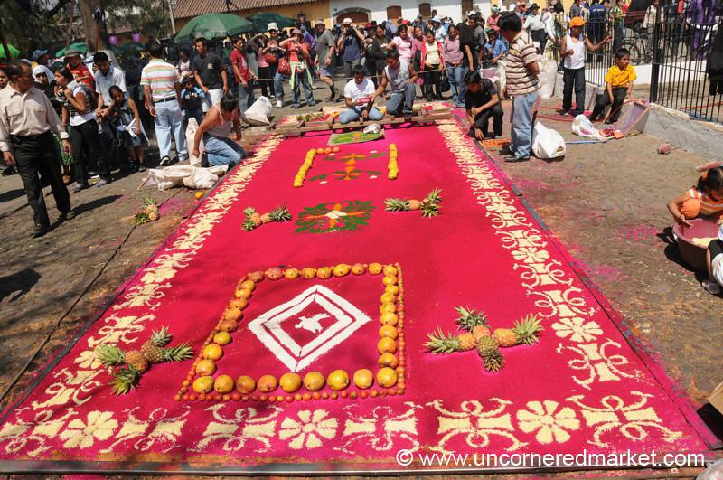 Alfombra (Sawdust Carpet), Semana Santa - Antigua, Guatemala