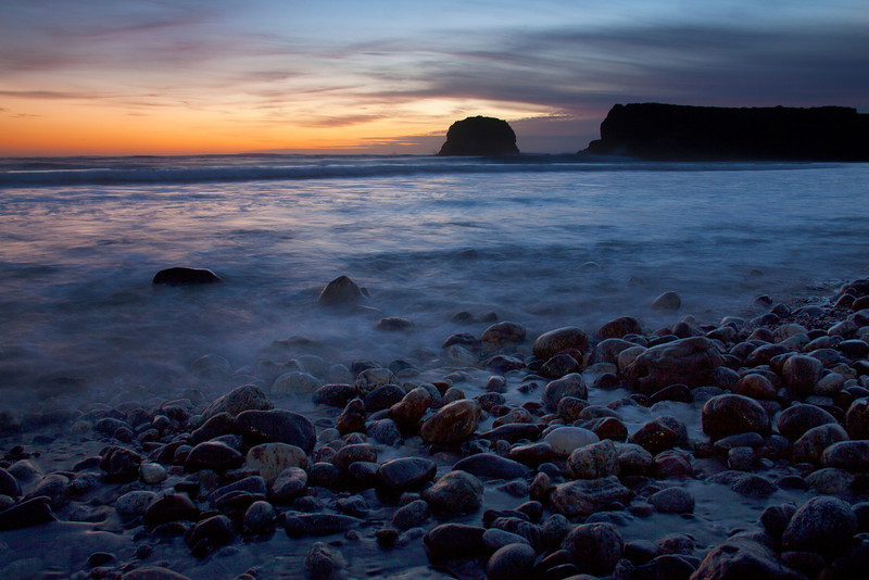 Sunset at Andrew Molerna State Park, Big Sur, CA