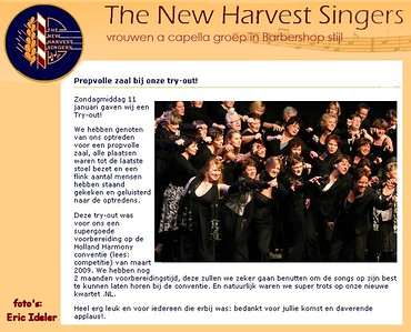 2009-0111 The New Harvest Singers -tryout