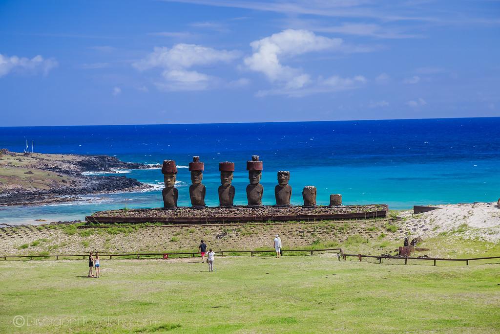 Rapa Nui National Park Easter Island - Anakena - Lina Stock