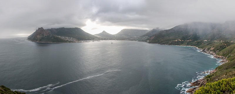 Hout Bay as seen from Chapman's Peak in Cape Town