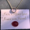 'Paix a Mon Amie' Glass Pendant, by Seal & Scribe 19