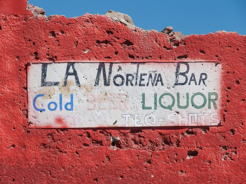 The bar is long gone, but the sign remains.