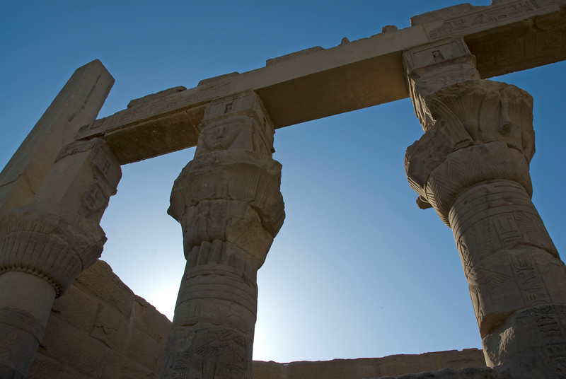 Backlit Pillars- Philae Temple, Aswan, Egypt