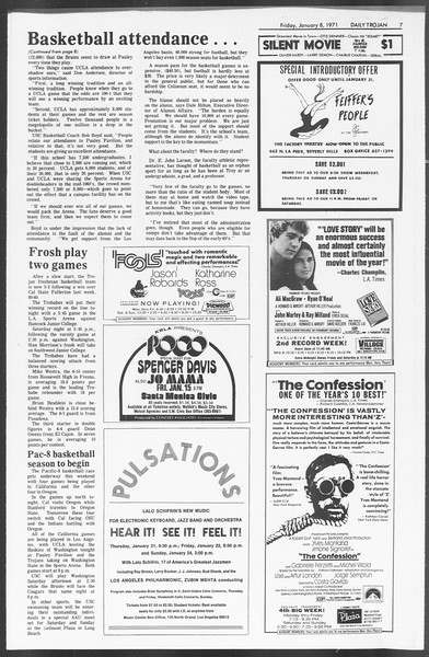 Daily Trojan, Vol. 62, No. 60, January 08, 1971