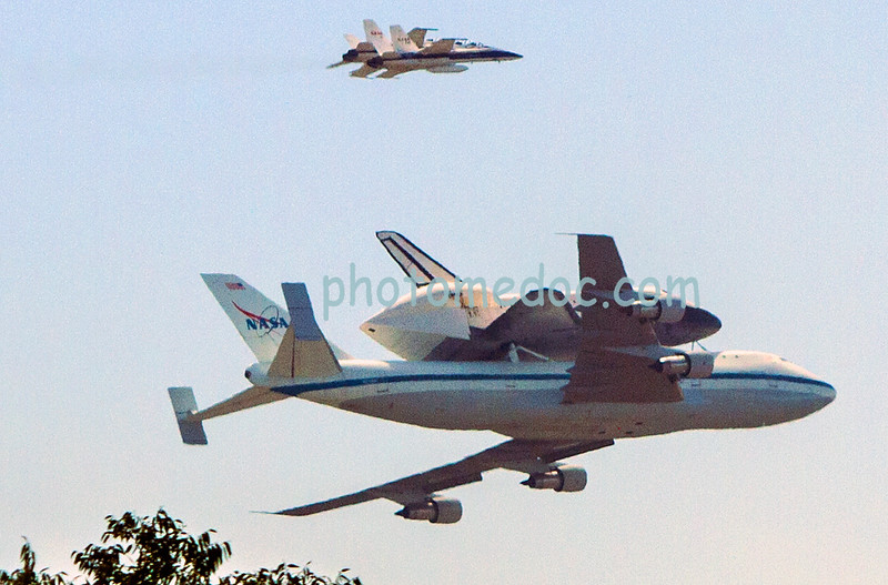 Space Shuttle Endeavor last pass flight LA