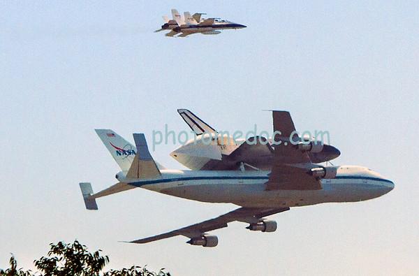 Space Shuttle Endeavor last pass flight LA
