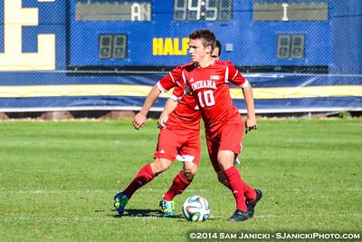 2nd Half from UM Men's Soccer Vs Indiana 10-26-14