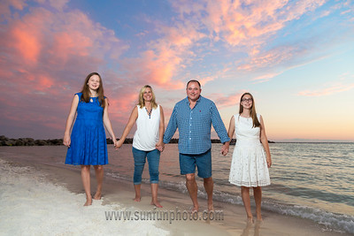 The Baker Family Sunset Pictures Panama City Beach Florida