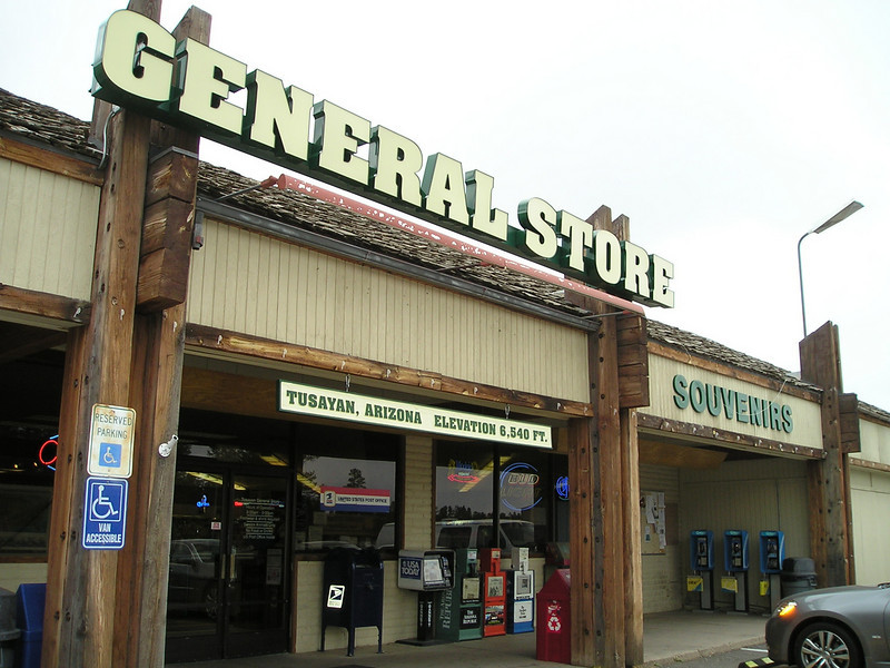 The General Store in Grand Canyon Village is huge. But they didn't have a replacement battery for my SLR camera, which had already almost used up 2 batteries. (No elec hookups in the campsites.)