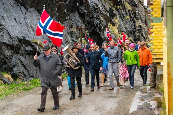 Nyksund 17th of May parade 2018