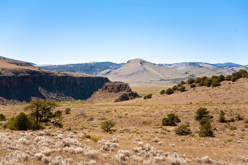 View of Saguache Creek Canyon from Ford Gulch, seven miles west of Saguache CO. September, 2010.