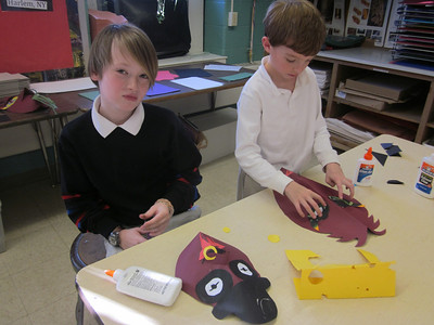3rd Grade African-Inspired Paper Masks
