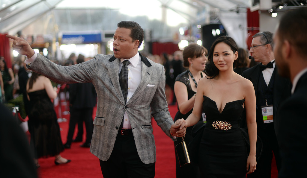 . Terrence Howard  on the red carpet at the 20th Annual Screen Actors Guild Awards  at the Shrine Auditorium in Los Angeles, California on Saturday January 18, 2014 (Photo by Hans Gutknecht / Los Angeles Daily News)