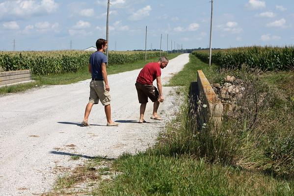 Taking Jon and Jonathan to Meadow Lake Wind Farm