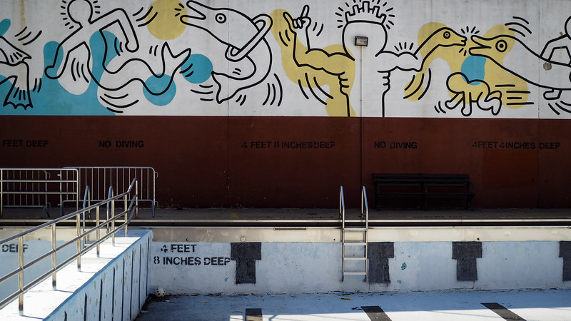 Carmine Street Pool - Keith Haring Mural - Feb 2017